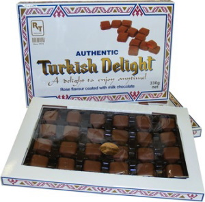 Real Turkish Delight - Chocolate Coated Turkish Delight 330g