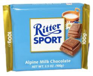 Ritter Sport - Alpine Milk Chocolate 100g