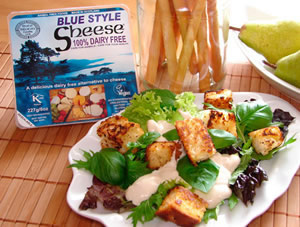 Sheese Vegan Cheese - Blue Sheese salad dressing with croutons